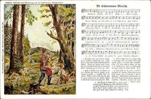 Lied Ak Vogel, Wilhelm, Nr. 20, Lattermann, G., Dr Schwamma Marsch, Wanderer im Wald