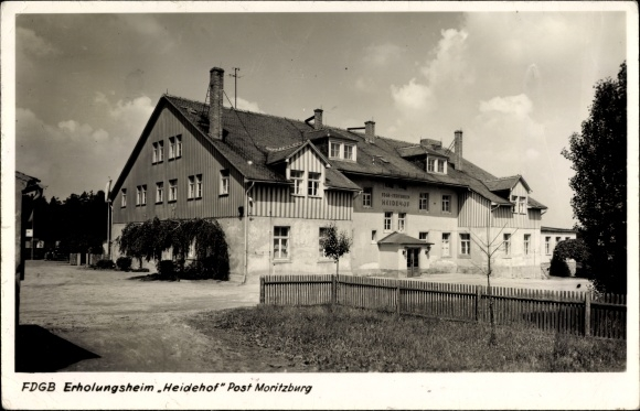 Ak Moritzburg in Sachsen, FDGB Erholungsheim Heidehof