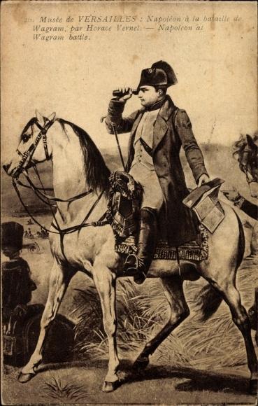 Künstler Ak Vernet, Horace, Napoleon à la bataille de Wagram, Musée de Versailles