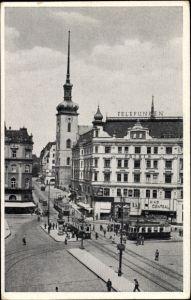Ak Brno Brünn Südmähren, Partie in der Kirchengasse, Kostelní ulice