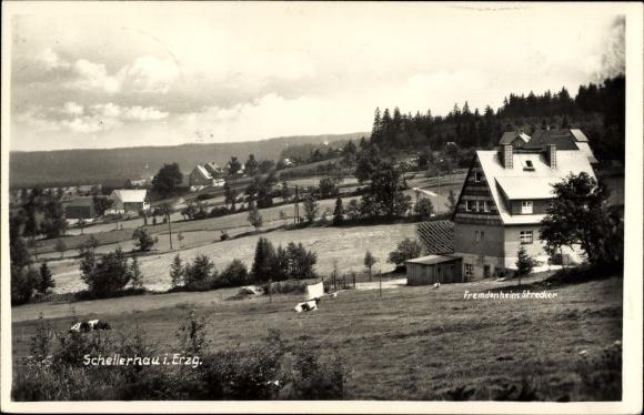 Ak Schellerhau Altenberg im Erzgebirge, Fremdenheim Strecker