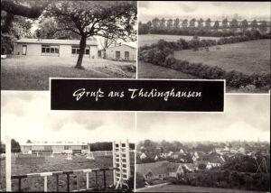 Ak Thedinghausen in Niedersachsen, Teilansicht, Landschaft, Sportstätte