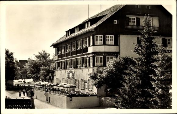 Ak Bayrischzell im Mangfallgebirge Oberbayern, Hotel Alpenrose