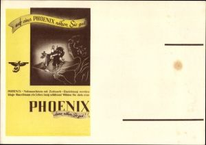 Ak Phoenix Nähmaschine, Zickzack Einrichtung, Reklame