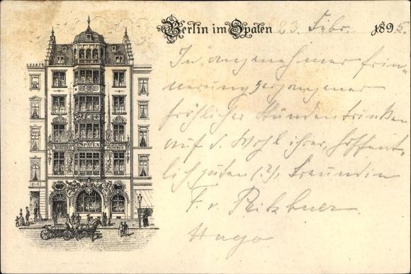 Vorläufer Litho Berlin Mitte, Ausschank der Brauerei zum Spaten, Bes. Sedlmayr