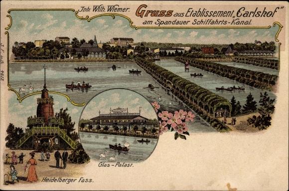 Litho Berlin Tiergarten, Etabl. Carlshof, Inh. Wilh. Wiemer, Heidelberger Fass, Spandauer Kanal
