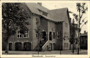 Ak Ossendrecht Woensdrecht Nordbrabant Niederlande, Gemeentehuis