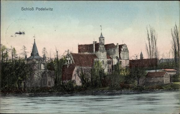 Ak Podelwitz Colditz in Sachsen, Blick auf das Schloß Podelwitz
