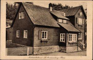 Ak St. Andreasberg Braunlage im Harz, Blick auf das Mittelelbehaus