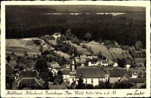 Ak Finsterbergen Friedrichroda Thüringen, Blick von der Kurhausterrasse auf den Ort