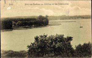Ak Ferch Schwielowsee in Brandenburg, Blick vom Gasthaus zur Erholung auf den See, Inh. C. Schmidt