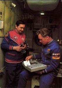 Ak Gemeinsamer Kosmosflug, UdSSR, DDR, Astronauten, Sidmund Jähn, W. Bykowski