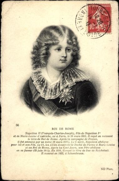 Künstler Ak Roi de Rome, Napoléon II, Fils de Napoléon I., 1811-1832
