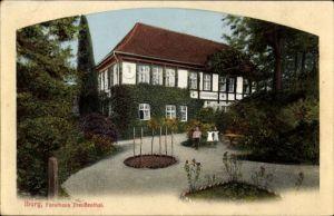 Ak Bad Iburg in Niedersachsen, Forsthaus Freudenthal, Kinder