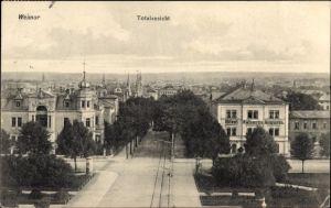Ak Weimar in Thüringen, Totale der Stadt, Hotel Kaiserin Augusta