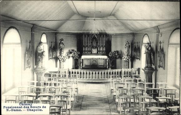 Ak Chimay Wallonien Hennegau, Pensionnat des Soeurs de Notre Dame, Kapelle