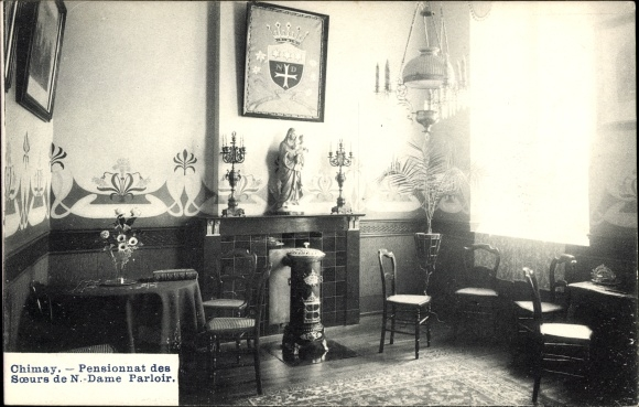 Ak Chimay Wallonien Hennegau, Pensionnat des Soeurs de Notre Dame, Zimmer