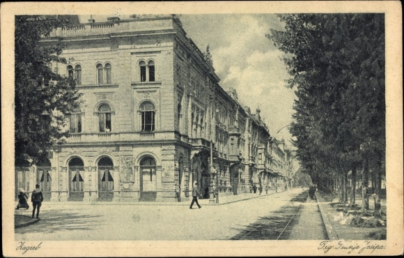 Ak Zagreb Kroatien, Trg Franje Josipa, Franz Josef Platz