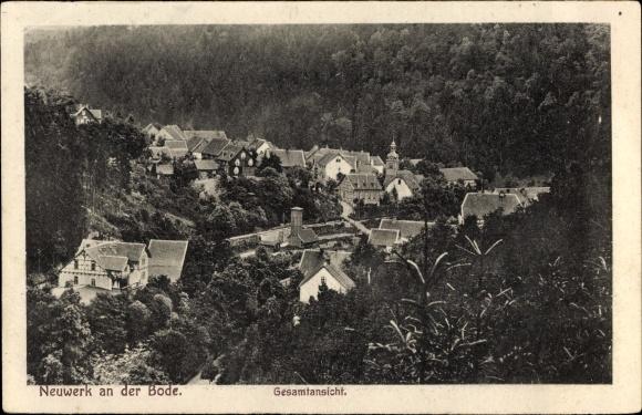 Ak Neuwerk Rübeland Oberharz am Brocken, Gesamtansicht der Ortschaft