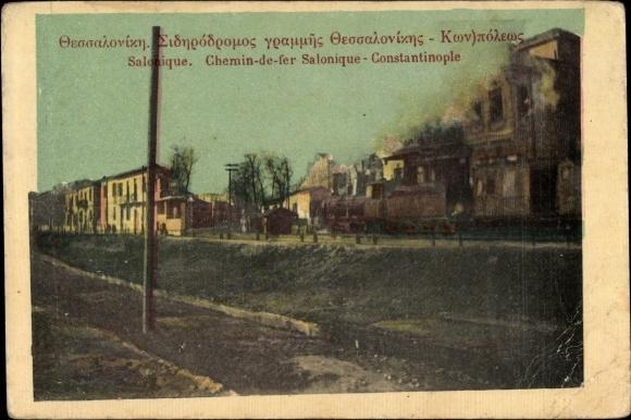 Ak Thessaloniki Griechenland, Zug von Salonique nach Konstantinopel