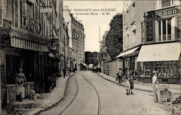 Ak Nogent sur Marne Val de Marne, La Grande Rue, Hauptstraße, P. Lormisset
