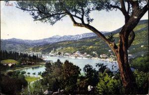 Ak Gruz Gravosa Dubrovnik Kroatien, Panorama, Ort am Wasser, Purger 10627