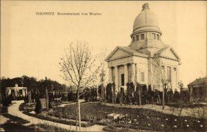 Ak Chemnitz Sachsen, Totalansicht von Krematorium, Friedhof
