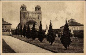Ak Plauen im Vogtland, Blick auf Krematorium, Friedhof