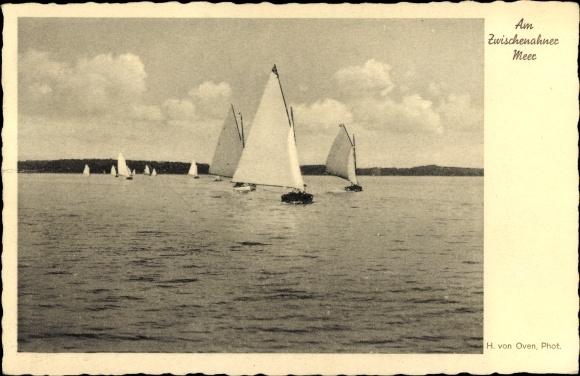 Ak Bad Zwischenahn, Segelboote auf dem Wasser