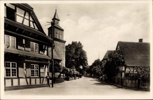 Ak Auenheim Kehl am Rhein Ortenaukreis Baden Württemberg, Kirche und Rathaus
