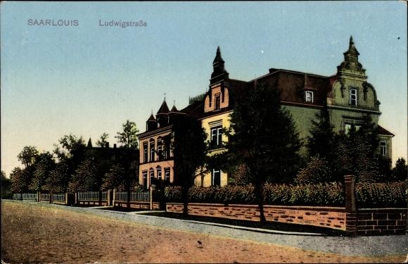Ak Saarlouis im Saarland, Blick auf Haus an der Ludwigstraße