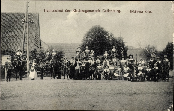 Ak Katlenburg Lindau in Niedersachsen, Heimatfest der Kirchengemeinde, 30 jähr. Krieg