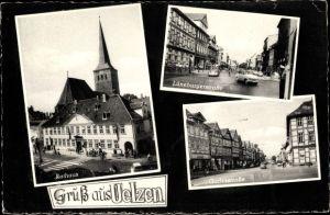 Ak Uelzen in Niedersachsen, Rathaus, Lüneburgerstrasse, Gudestrasse