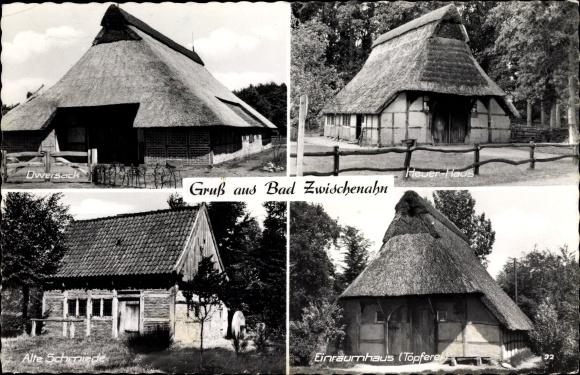 Ak Bad Zwischenahn Kreis Ammerland, Dwersack, Heuer haus, Alte Schmiede, Einraumhaus Töpferei