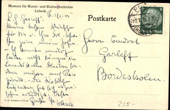 Ak Lubeck In Schleswig Holstein Aus Dem Hansesaal Kamin Aus Dem