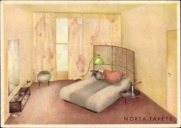 Künstler Ak Norta Tapete, Heimann Rottkamp, Reklame, Haushaltungen