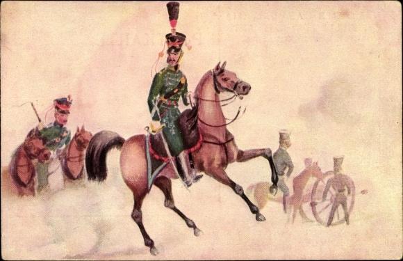 Künstler Ak Suhr, C., Hamburger Leben im Anfang des 19jh, Reitende Artillerie 1814