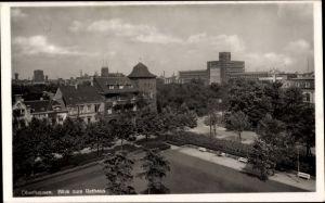 Ak Oberhausen im Ruhrgebiet, Blick zum Rathaus, Platz