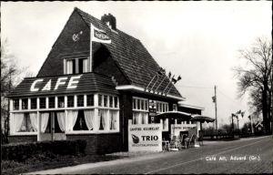 Ak Aduard Groningen Niederlande, Ansicht von Café Alt, Camping Nieuwklap