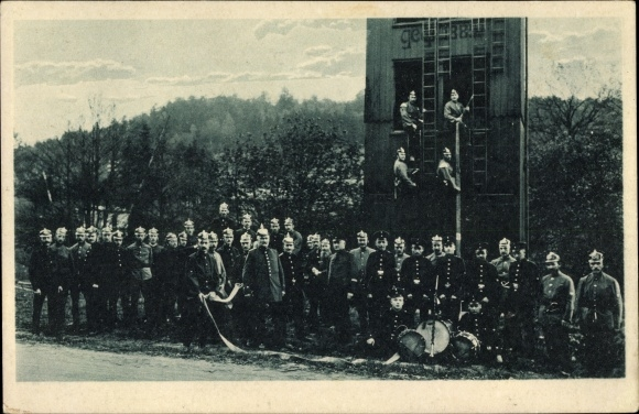 Ak Vollme Kierspe im Märkischen Kreis, Vierzigjähriges Bestehen der Freiwilligen Feuerwehr 1925