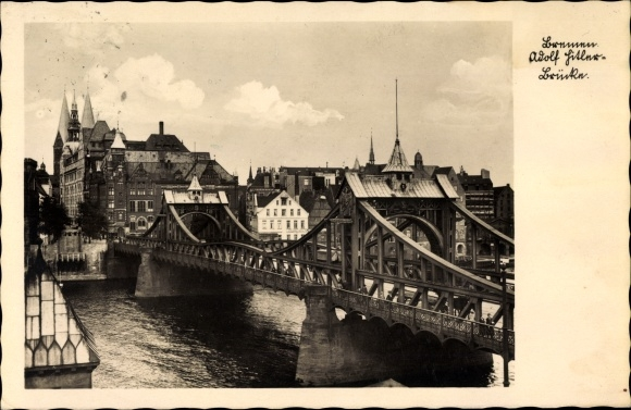 Ak Hansestadt Bremen, Blick auf die Brücke
