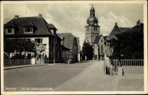 Ak Herford in Westfalen, Weg zur Radewiger Kirche, Straßenpartie