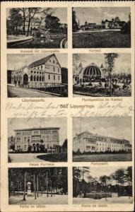 Ak Bad Lippspringe im Kreis Paderborn, Kursaal, Kurbad, Liboriusquelle, Marienstift, Waldpartie