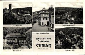 Ak Stromberg im Hunsrück, Stadtansichten, Fustenburg, Marktplatz, Kurhaus