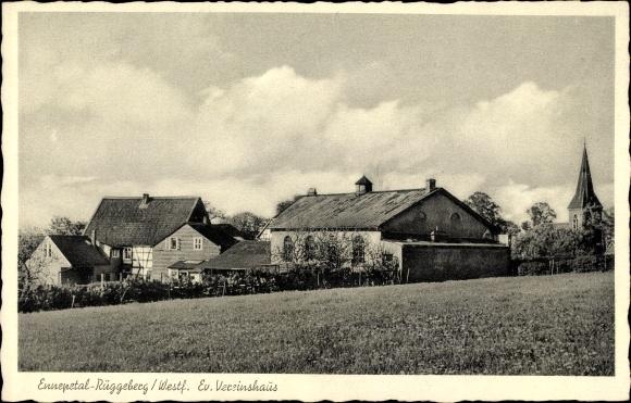 Ak Rüggeberg Ennepetal in Nordrhein Westfalen, Blick auf evangelisches Vereinshaus
