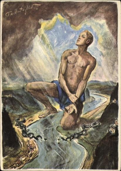Künstler Ak Matejko, Theo, Befreiung des deutschen Rheines 1930
