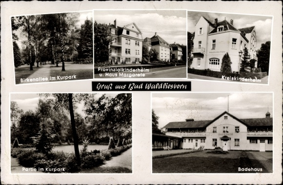 Ak Bad Waldliesborn Lippstadt im Kreis Soest Nordrhein Westfalen, Kinderheim, Badehaus, Park