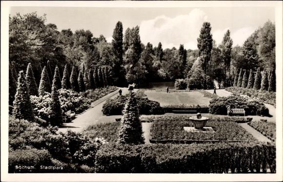 Ak Bochum im Ruhrgebiet, Blick auf den Stadtpark