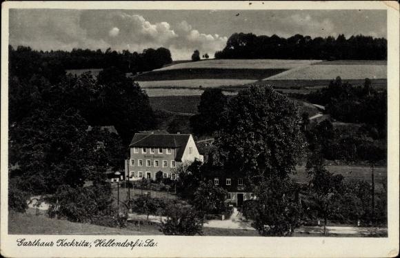 Ak Hellendorf Bad Gottleuba in Sachsen, Gasthaus Keckritz, Teilansicht