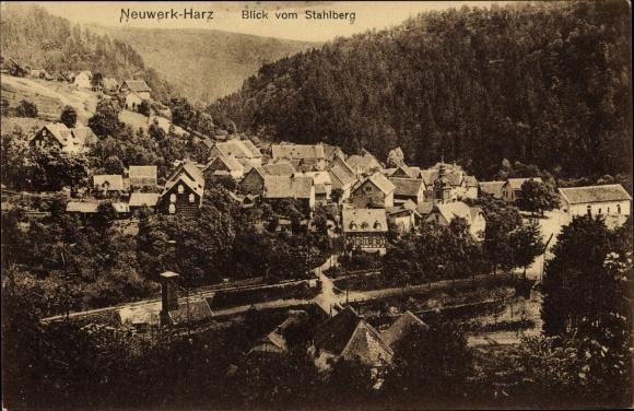 Ak Neuwerk Rübeland Oberharz am Brocken, Blick vom Stahlberg